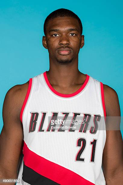 Noah Vonleh of the Portland Trail Blazers poses for a head shot during media day on September 28 2015 at the MODA Center Arena in Portland Oregon...
