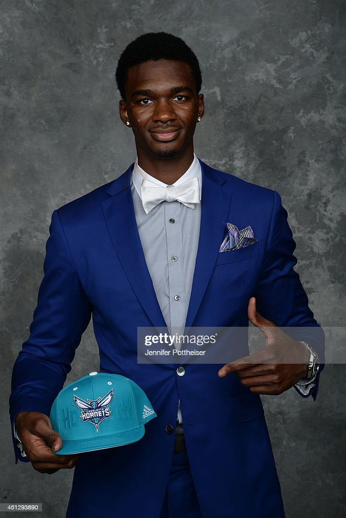 Noah Vonleh, the 9th pick overall by the Charlotte Hornets, poses for a portrait during the 2014 NBA Draft at the Barclays Center on June 26, 2014 in the Brooklyn borough of New York City.