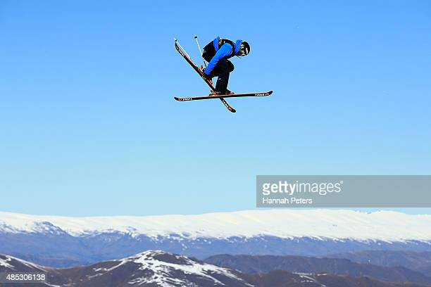 Noah Wallace of the United States competes in the FIS Freestyle Ski World Cup Slopestyle Qualification during the Winter Games NZ at Cardrona Alpine...
