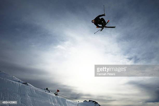 Noah Wallace of the United States competes in the FIS Freestyle Ski World Cup Slopestyle Finals during the Winter Games NZ at Cardrona Alpine Resort...
