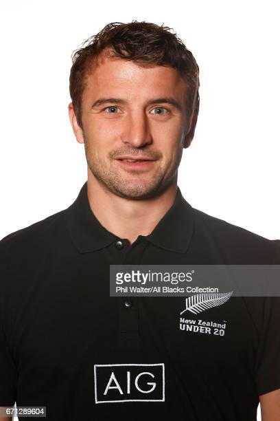 Noah Whitehead poses during the New Zealand U20 Headshots Session at Novotel Auckland Airport on April 22 2017 in Auckland New Zealand