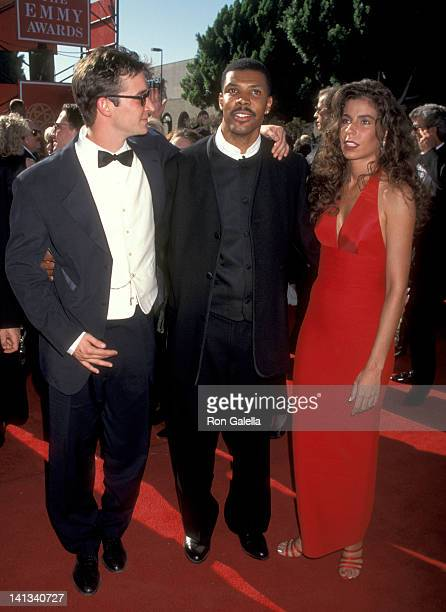 Noah Wyle Eric La Salle and girlfriend at the 47th Annual Primetime Emmy Awards Pasadena Civic Auditorium Pasadena