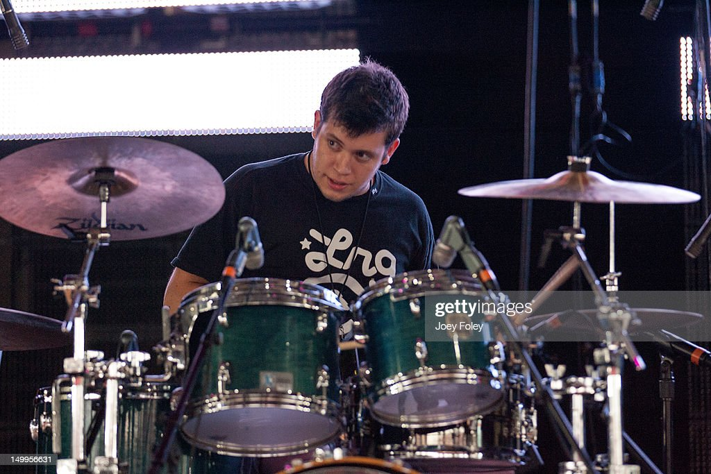 Noah 'Xaphoon Jones' Beresin of Chiddy Bang performs onstage on the opening night of the 'Under the Influence Tour' at Riverbend Music Center on July 26, 2012 in Cincinnati, Ohio.