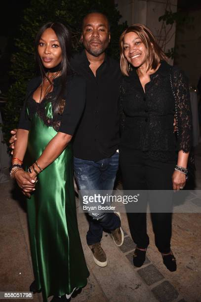Noami Campbell Lee Daniels and Grace Hightower attend an event in NYC to celebrate People For the American Way Foundation founder and national...
