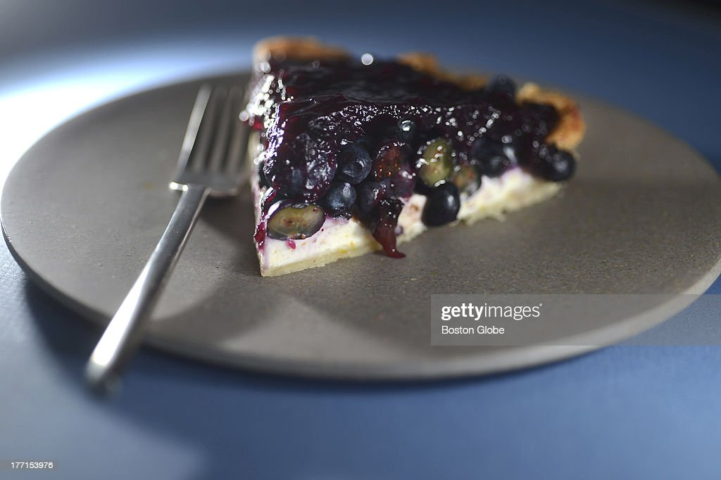 No-bake blueberry pie, styled by Sheryl Julian and Janine Sciarappa.