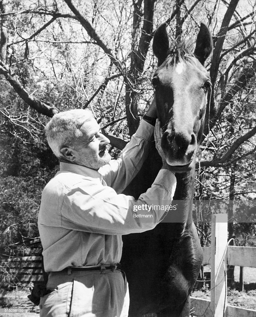 Nobel and Pulitzer Prize winning author William Faulkner is happy when he is near horses because he loves the creatures Riding and boating and...