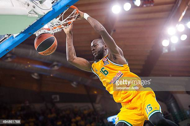 Nobel BoungouColo of Limoges CSP in action during the Turkish Airlines Euroleague Regular Season date 3 game between Limoges CSP v Laboral Kutxa...