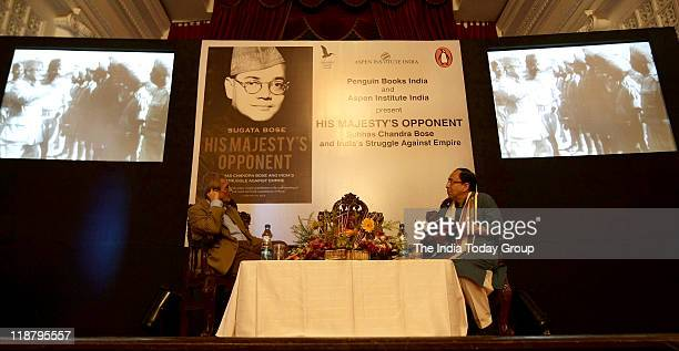 Nobel laureate Amartya Sen and Sugata Bose during release of a book on Subhas Chandra Bose His Majesty's opponent Subhas Chandra Bose India's...
