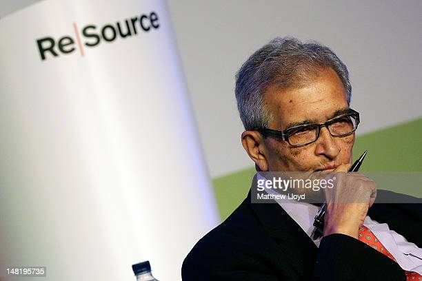 Nobel Laureate Amartya Sen of Harvard University speaks at the ReSource 2012 conference on July 12 2012 in Oxford England ReSource 2012 is a 2 day...