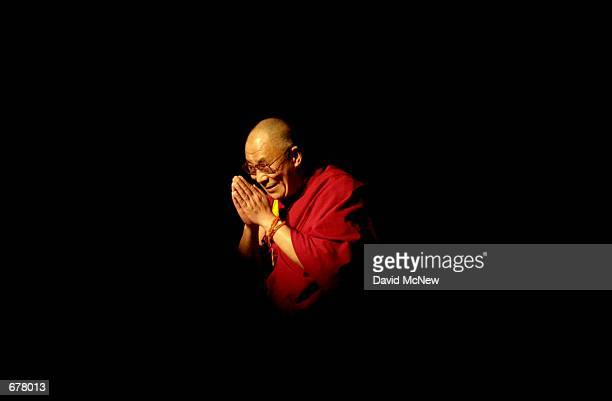 Nobel Laureate and exiled spiritual leader of Tibet His Holiness the 14th Dalai Lama appears at the University of California Los Angeles to give a...