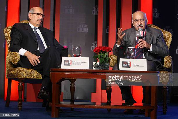 Nobel Laureate and former Director General of the International Atomic Energy Agency Mohammed ElBaradei with India Today Editorial Director MJ Akbar...