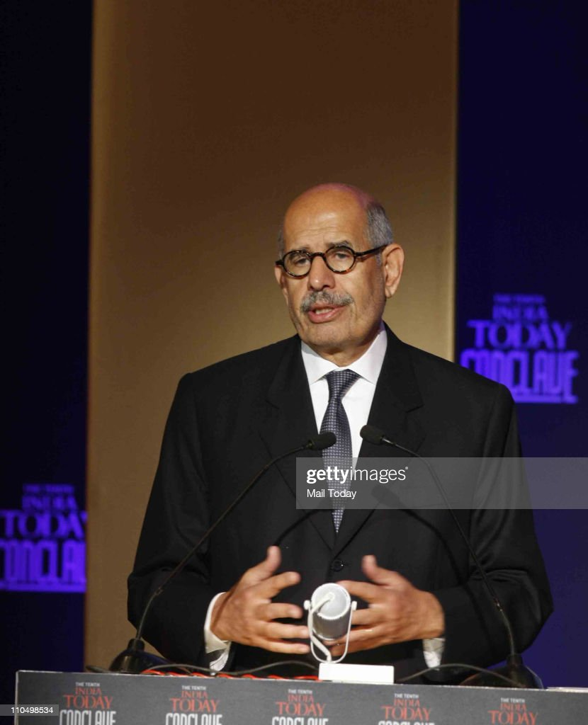 Nobel Laureate and former Director General of the International Atomic Energy Agency Mohammed ElBaradei during 10th India Today Conclave being held in the capital on March 18-19, 2011 at Taj Palace Hotel.