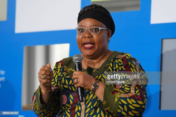 Nobel Laureate Liberian Peace Activist and Women's Rights Advocate Aurora Prize Selection Committee Member Leymah Gbowee during the Galvanizing the...
