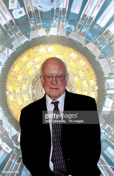 Nobel laureate Professor Peter Higgs at the Science Museum London ahead of the opening of the the museum's new Collider exhibition which gives...