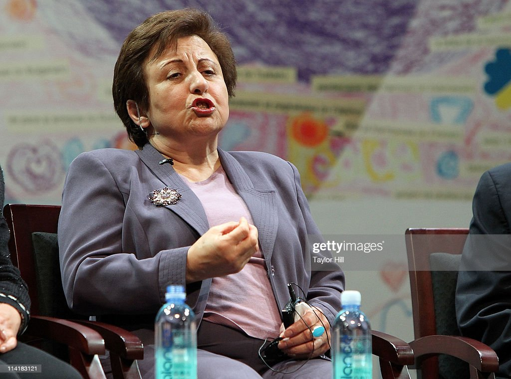 Nobel laureate <a gi-track='captionPersonalityLinkClicked' href=/galleries/search?phrase=Shirin+Ebadi&family=editorial&specificpeople=563922 ng-click='$event.stopPropagation()'>Shirin Ebadi</a> attends the Newark Peace Education Summit at New Jersey Performing Arts Center on May 14, 2011 in Newark, New Jersey.
