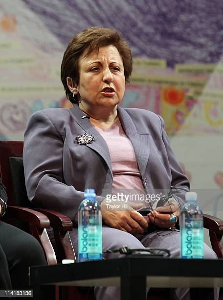 Nobel laureate Shirin Ebadi attends the Newark Peace Education Summit at New Jersey Performing Arts Center on May 14 2011 in Newark New Jersey