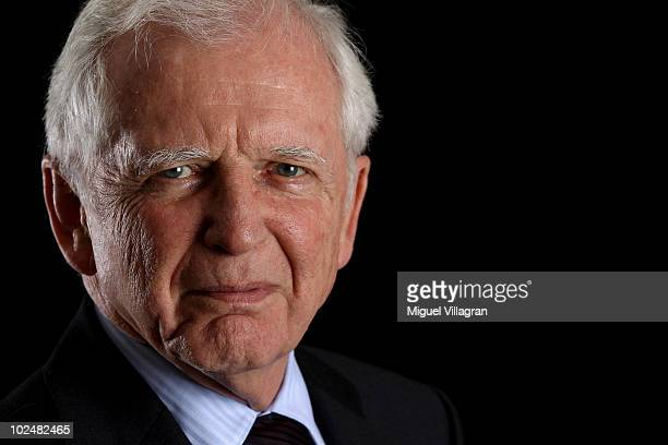 Nobel medicine prize laureate Harald zur Hausen of Germany looks on during a portrait session at the annual Nobel Laureate meeting on June 28 2010 in...
