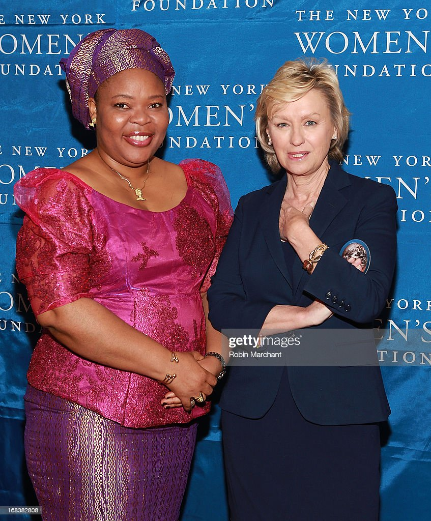 Nobel Peace Laureate and Liberian peace activist Leymah Gbowee (L) and Tina Brown, Founder and Editor in Chief of The Newsweek Daily Beast Company attend The 26th Annual Celebrating Women Breakfast at The New York Marriott Marquis on May 9, 2013 in New York City.