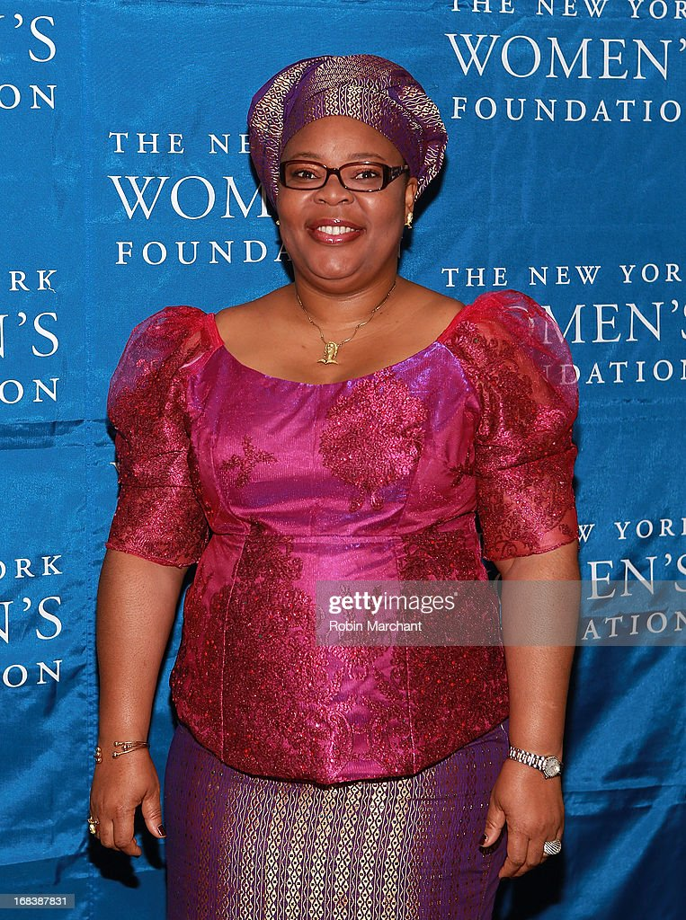 Nobel Peace Laureate and Liberian peace activist Leymah Gbowee attends The 26th Annual Celebrating Women Breakfast at The New York Marriott Marquis on May 9, 2013 in New York City.