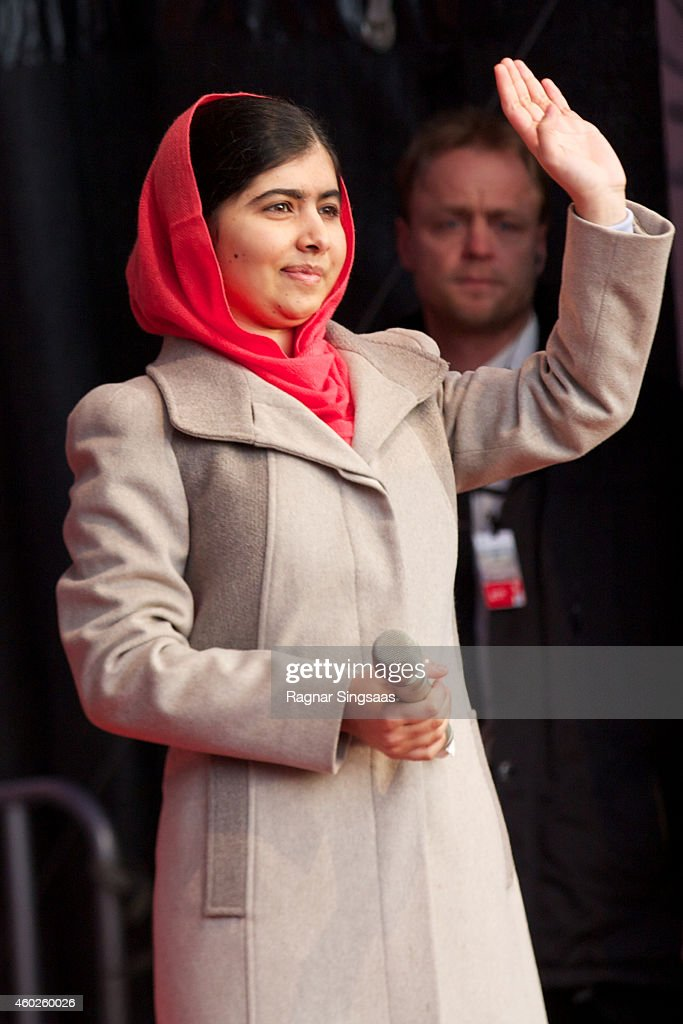 Nobel Peace Prize 2014 Laureate Malala Yousafzai attends the Save The Children's Peace Prize Festival on December 10 2014 in Oslo Norway