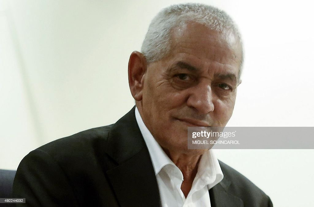 Nobel Peace Prize Tunisian General Labour Union (UGTT)'s secretary general, <a gi-track='captionPersonalityLinkClicked' href=/galleries/search?phrase=Houcine+Abassi&family=editorial&specificpeople=8767639 ng-click='$event.stopPropagation()'>Houcine Abassi</a>, poses for a photo in Sao Paulo on October 11, 2015. Abassi was awarded the Peace Prize along with the other members of the Tunisian National Dialogue Quartet -Tunisian Confederation of Industry, Trade and Handicrafts (UTICA) Tunisian Human Rights League (LTDH) and Tunisian Order of Lawyers--the Norwegian Nobel Commitee announced, for helping rescue the only democracy that emerged from the Arab Spring, in a hugely symbolic show of support for the country after a wave of jihadist attacks. AFP PHOTO / MIGUELSCHINCARIOL