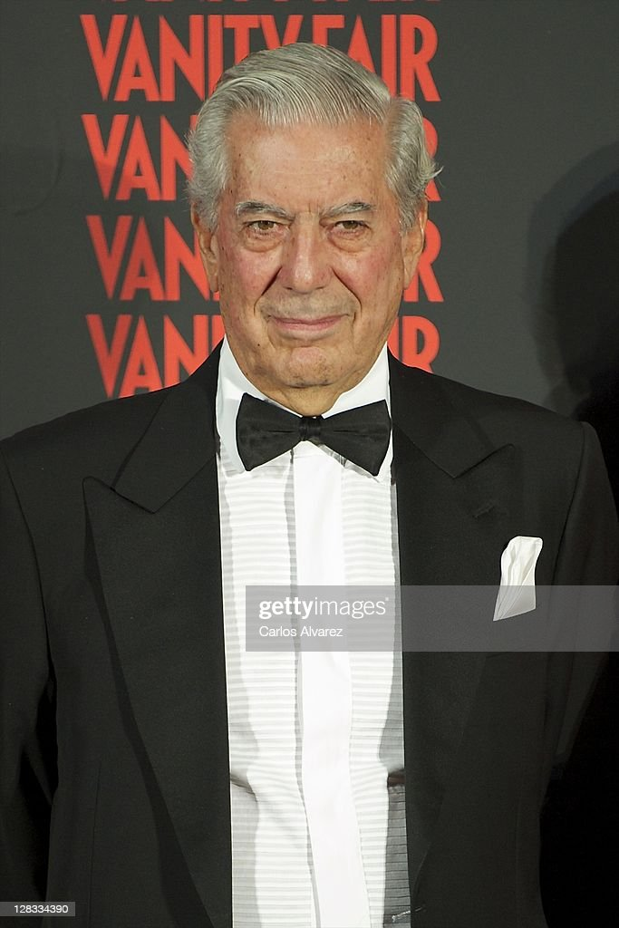 Nobel Prize in Literature winner <a gi-track='captionPersonalityLinkClicked' href=/galleries/search?phrase=Mario+Vargas+Llosa&family=editorial&specificpeople=620765 ng-click='$event.stopPropagation()'>Mario Vargas Llosa</a> attends 'Man of the Year 2011' Vanity Fair Award at 'Museo de America' on October 6, 2011 in Madrid, Spain.