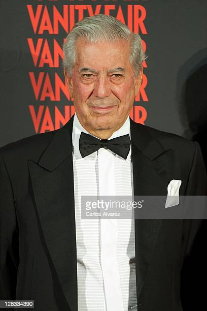 Nobel Prize in Literature winner Mario Vargas Llosa attends 'Man of the Year 2011' Vanity Fair Award at 'Museo de America' on October 6 2011 in...