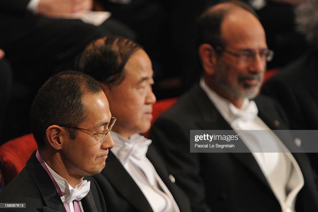 Nobel Prize in Medicine laureate Professor Shinya Yamanaka of Japan Nobel Prize in Literature laureate author Mo Yan of China and Nobel Prize in...