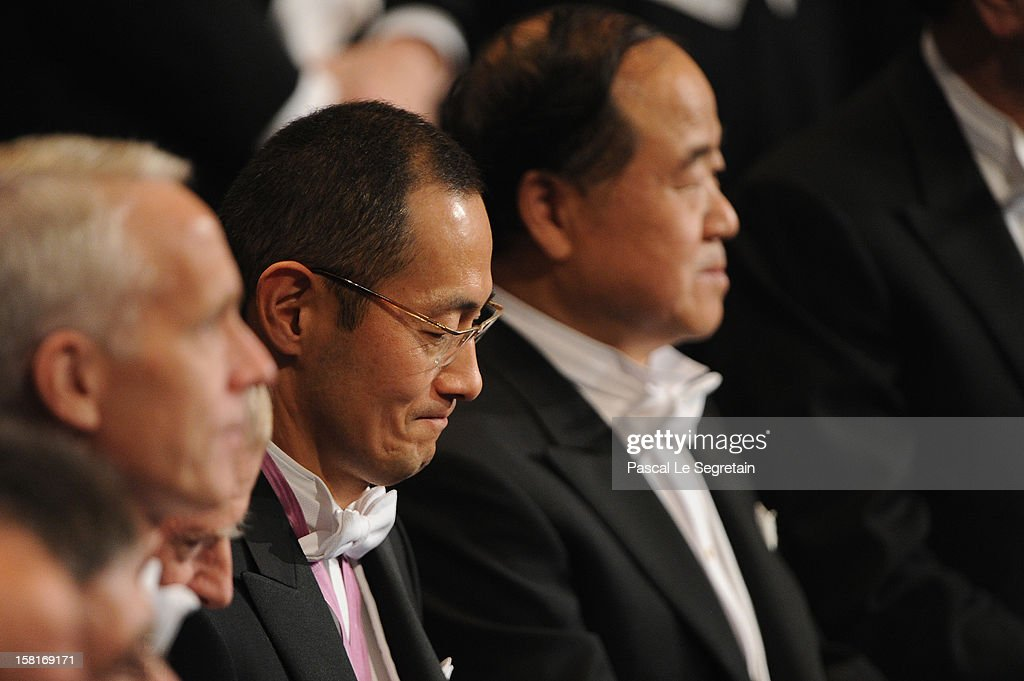 Nobel Prize in Medicine laureate Professor Shinya Yamanaka of Japan (C) looks on during the Nobel Prize Ceremony at Concert Hall on December 10, 2012 in Stockholm, Sweden.