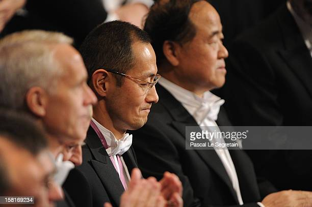 Nobel Prize in Medicine laureate Professor Shinya Yamanaka of Japan looks on during the Nobel Prize Ceremony at Concert Hall on December 10 2012 in...