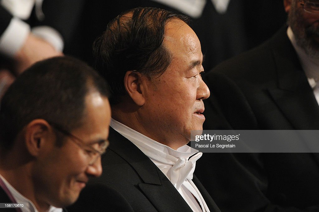 Nobel Prize in Medicine laureate Professor Shinya Yamanaka of Japan (L) and Nobel Prize in Literature laureate, author Mo Yan of China attend the 2012 Nobel Prize Award Ceremony during the Nobel Prize Ceremony at Concert Hall on December 10, 2012 in Stockholm, Sweden.