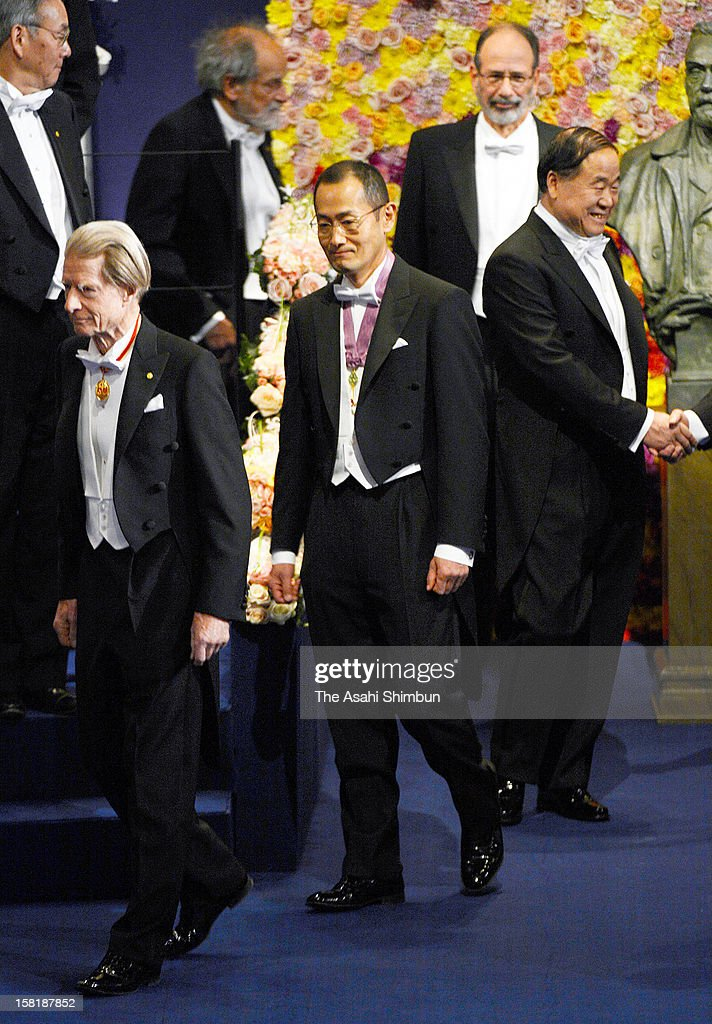 Nobel Prize in Medicine laureate Shinya Yamanaka attends the Nobel Prize Award Ceremony at Concert Hall on December 10, 2012 in Stockholm, Sweden.