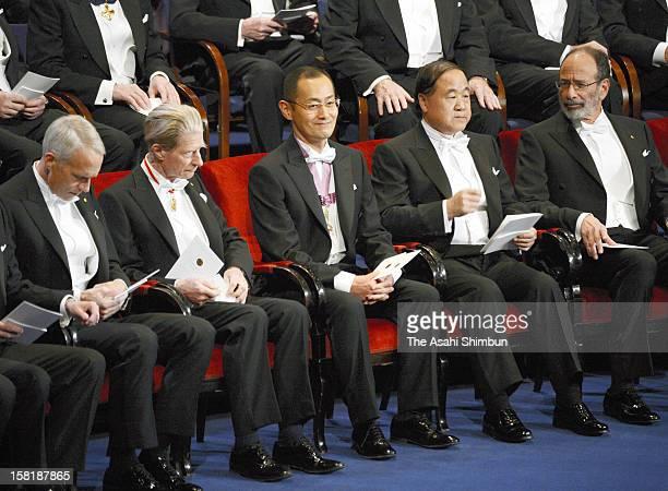 Nobel Prize in Medicine laureate Shinya Yamanaka attends the Nobel Prize Award Ceremony at Concert Hall on December 10 2012 in Stockholm Sweden