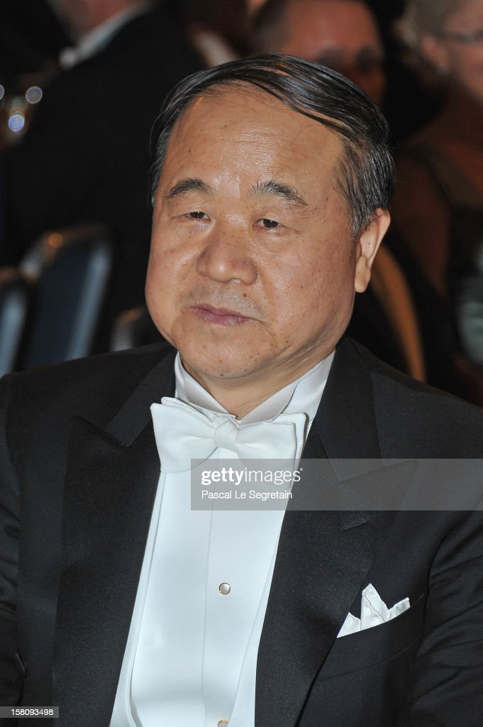 Nobel Prize Laureate for Literature and author Mo Yan of China attends the Nobel Banquet after the 2012 Nobel Peace Prize Ceremony at Town Hall on...