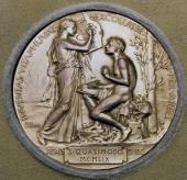 Nobel Prize Medal awarded to Salvatore Quasimodo in 1959 20th century