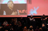 Nobel prize winner Muhammad Yunus delivers a speech during the Digital Life Design conference at HVB Forum on January 26 2010 in Munich Germany DLD...