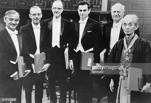 Nobel Prize Winners Stockholm The 1968 Nobel Prize recipients five Americans and one Japanese where judged to have 'most benefited mankind' in the...