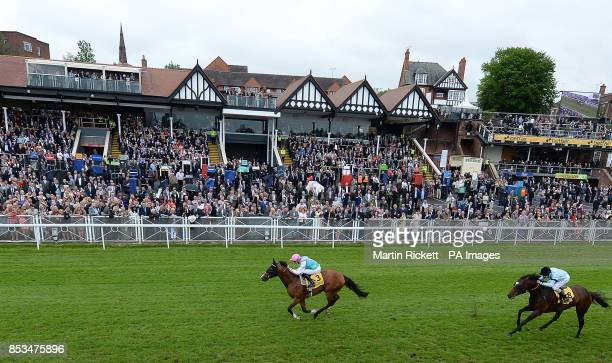 Noble Mission ridden by James Doyle wins The Betfair Price Rush Huxley Stakes from Telescope during day two of the 2014 Boodles May Festival at...
