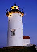 Nobska Point Light Woods Hole Cape Cod MA Massachusetts USA