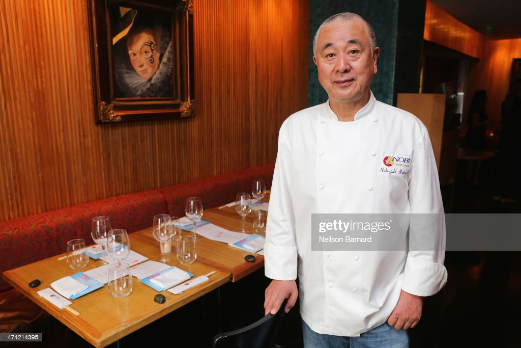 <a gi-track='captionPersonalityLinkClicked' href=/galleries/search?phrase=Nobu+Matsuhisa&family=editorial&specificpeople=4292658 ng-click='$event.stopPropagation()'>Nobu Matsuhisa</a> attends Ultimate Asian Lunch Hosted By <a gi-track='captionPersonalityLinkClicked' href=/galleries/search?phrase=Nobu+Matsuhisa&family=editorial&specificpeople=4292658 ng-click='$event.stopPropagation()'>Nobu Matsuhisa</a> & Hiroko Shimbo during the Food Network South Beach Wine & Food Festival at Nobu Miami Beach on February 22, 2014 in Miami Beach, Florida.