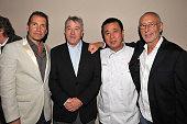 Nobu partner Richard Notar Nobu partner Robert De Niro Executive Chef/Nobu partner Nobu Matsuhisa and Nobu partner Meir Teper attend the opening sake...