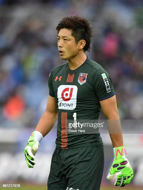 Nobuhiro Kato of Omiya Ardija looks on during the JLeague J1 match between Yokohama FMarinos and Omiya Ardija at Nissan Stadium on October 14 2017 in...