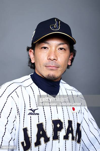 Nobuhiro Matsuda of Japan poses for a portrait prior to the WBSC Premier 12 on November 2 2015 in Fukuoka Japan