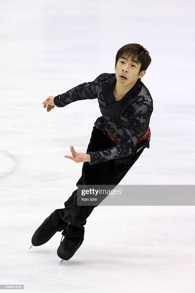 Nobunari Oda competes in the Men's Free Program during day two of the 81st Japan Figure Skating Championships at Makomanai Sekisui Heim Ice Arena on December 22, 2012 in Sapporo, Japan.