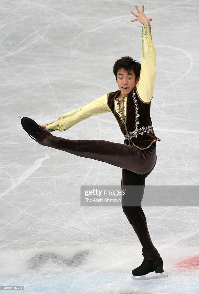 Nobunari Oda competes in the Men's Singles Free Program during the 82nd All Japan Figure Skating Championships at Saitama Super Arena on December 22, 2013 in Saitama, Japan.