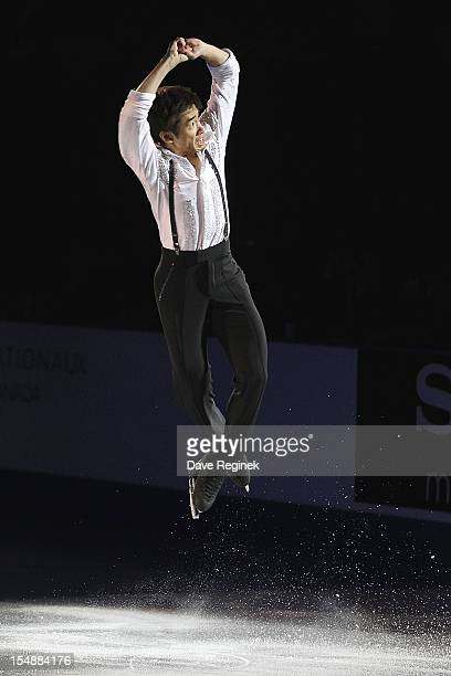 Nobunari Oda from Japan skates in the Gala Exhibition during day three of the 2012 Skate Canada International ISU Grand Prix of Figure Skating at...