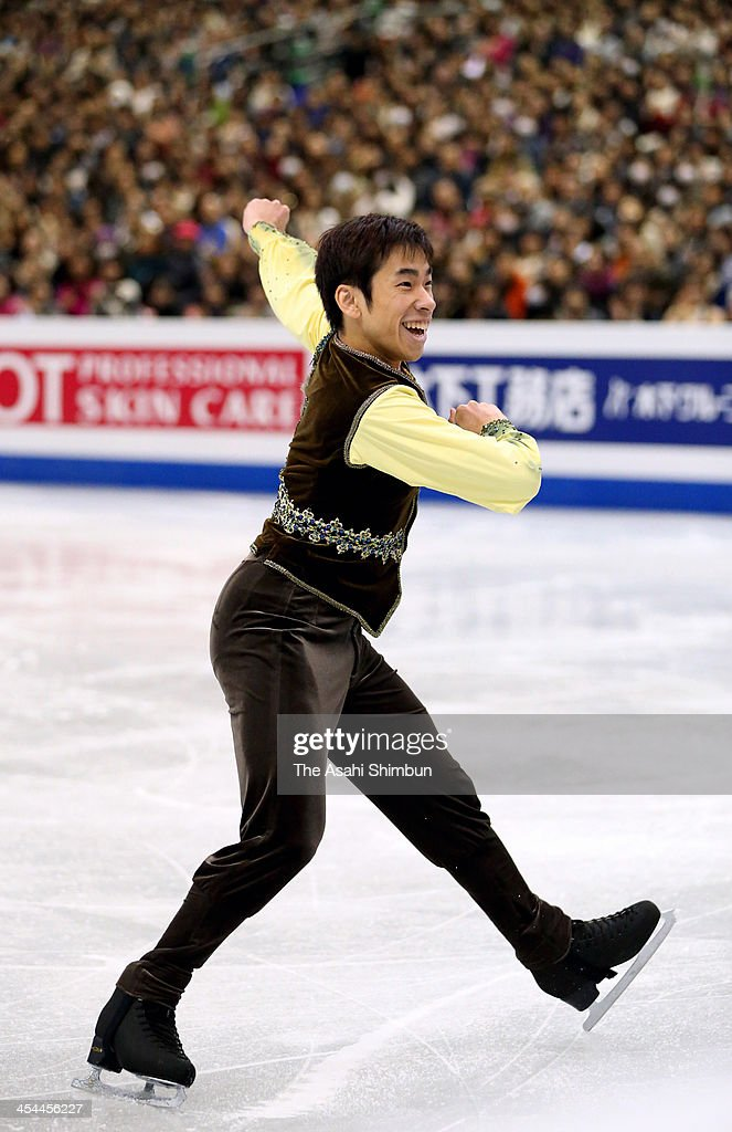 Nobunari Oda of Japan competes in the Men's free program during the ISU Grand Prix of Figure Skating Final at Marine Messe Fukuoka on December 6, 2013 in Fukuoka, Japan.