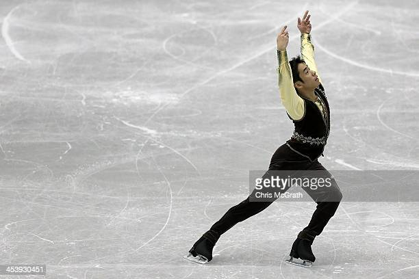 Nobunari Oda of Japan competes in the Men's Free Skating Final on day two of the ISU Grand Prix of Figure Skating Final 2013/2014 at Marine Messe...