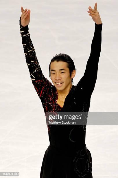 Nobunari Oda of Japan competes in the Short Program during Skate America at Rose Garden Arena on November 12 2010 in Portland Oregon