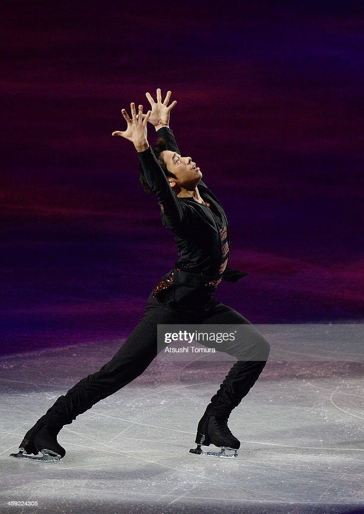 Nobunari Oda of Japan performs his routine in the Gala exhibition during All Japan Figure Skating Championships at Saitama Super Arena on December 24, 2013 in Saitama, Japan.